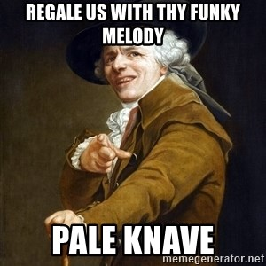 Joseph Ducreaux - Regale us with thy funky melody Pale knave