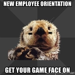 Roller Derby Otter - New employee orientation get your game face on