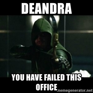 YOU HAVE FAILED THIS CITY - Deandra you have failed this office