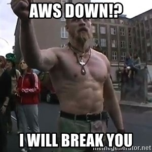 Techno Viking - AWS DOWN!? I WILL BREAK YOU