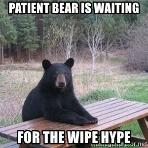 Patient Bear - Patient bear is waiting for the wipe hype