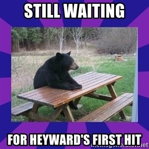 waiting bear - STILL WAITING FOR HEYWARD'S FIRST HIT