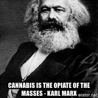 Marx -  Cannabis iS the opiate of the masses - Karl Marx