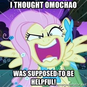 angry-fluttershy - I thought omochao Was supposed to be Helpful!