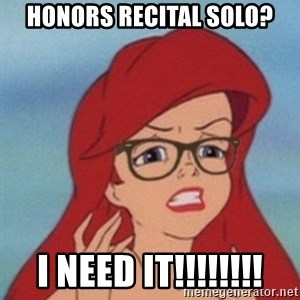 Hipster Ariel- - Honors recital solo? I need it!!!!!!!!