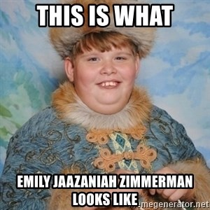 welcome to the internet i'll be your guide - this is what Emily Jaazaniah Zimmerman looks like