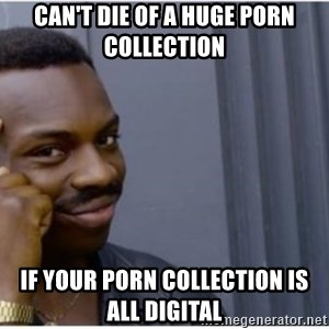 I'm a fucking genius - Can't die of a huge porn collection if your porn collection is all digital
