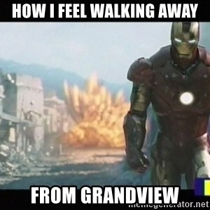 Iron man walks away - How I feel walking away From grandview