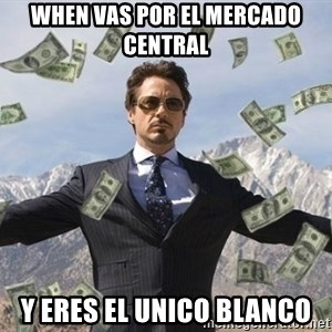 biz niz man - wHen vas por el mercado central Y eres el unico blanco