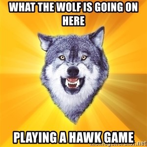 Courage Wolf - What the wolf is going on here Playing a hawk game