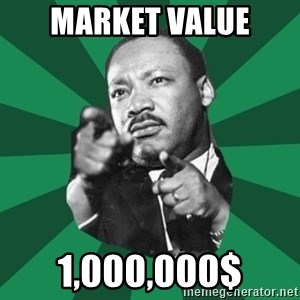 Martin Luther King jr.  - market value 1,000,000$