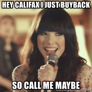 Carly Rae Jepsen Call Me Maybe - hey califax i just buyback so call me maybe