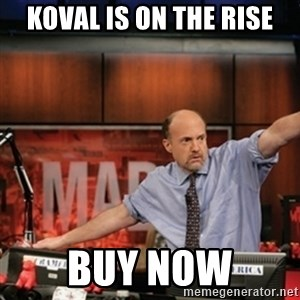 Jim Kramer Mad Money Karma - koval is on the rise buy now