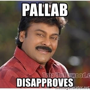 Typical Indian guy - pallab disapproves