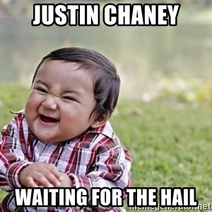 evil asian plotting baby - Justin chaney Waiting for the hail