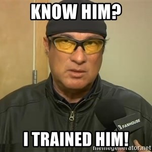 Steven Seagal Mma - Know Him? I Trained Him!