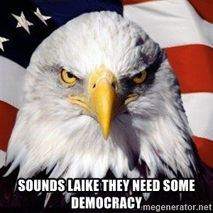 Freedom Eagle  -  sounds laike they need some democracy