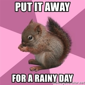 Shipper Squirrel - Put it away  for a rainy day