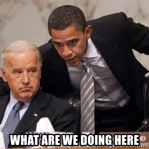 Obama Biden Concerned -  what are we doing here