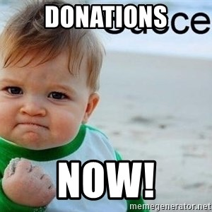 success baby - Donations Now!