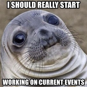 Awkward Seal - I should really start working on current events