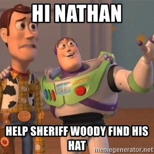 ToyStorys - Hi Nathan Help Sheriff Woody find his hat
