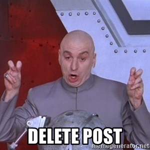 Dr. Evil Air Quotes -  DELETE POST
