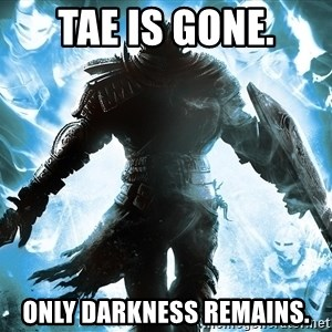 Dark Souls Dreamagus - Tae is gone. Only darkness remains.