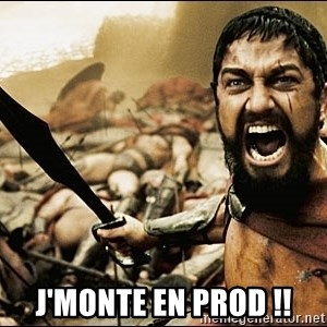 This Is Sparta Meme -  J'MONTE EN PROD !!