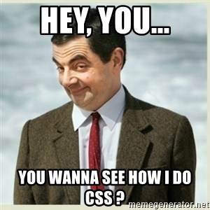 MR bean - Hey, you... you wanna see how i do css ?