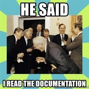 reagan white house laughing - He said I read the documentation