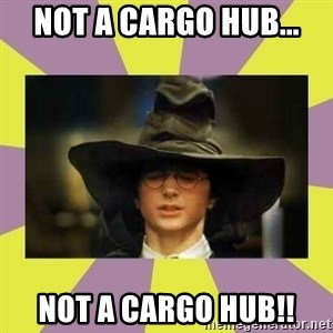 Harry Potter Sorting Hat - NOT a cargo hub... not a cargo hub!!