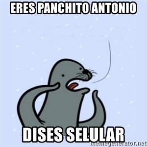 gay seal - eres panchito antonio dises selular