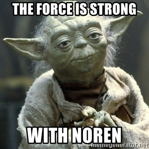 Yodanigger - The force is strong  With noren