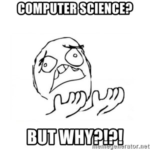 WHY SUFFERING GUY 2 - Computer science? BUT why?!?!