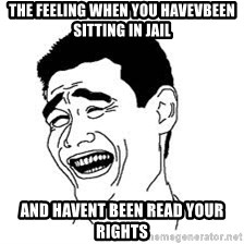 Dumb Bitch Meme - THE feeling when you havevbeen sitting in jail And havent been read your rights