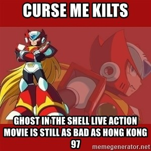 UMVC3 Zero - Curse me kilts Ghost in the Shell live action movie is still as bad as Hong Kong 97