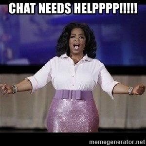 free giveaway oprah - chat needs helpppp!!!!!