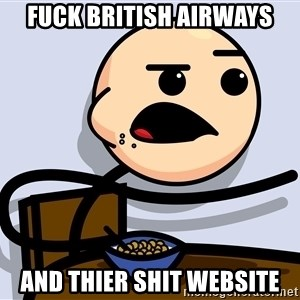 Kid Eating Cereal - Fuck british airways And thier shit websIte
