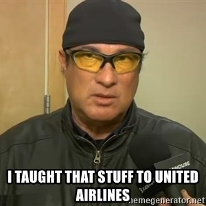 Steven Seagal Mma -  I taught that stuff to United Airlines