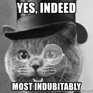 Monocle Cat - Yes, Indeed most indubitably