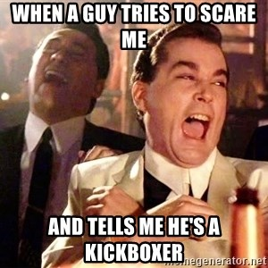 nurse bday - when a guy tries to scare me and tells me he's a kickboxer
