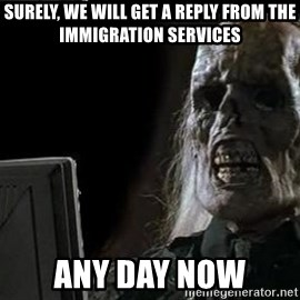 OP will surely deliver skeleton - Surely, we will get a reply from the immigration services Any day now