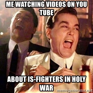 nurse bday - me watching videos on you tube about is-Fighters in holy war