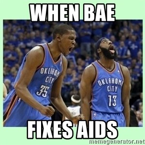 durant harden - When bae  Fixes aids