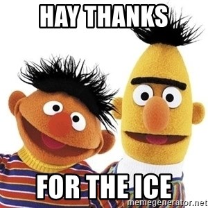 Bert and Ernie - Hay thanks  For the ice