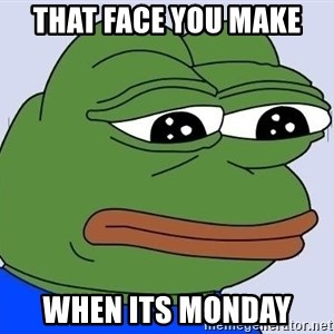Sad Frog Color - That face you make  When its monday
