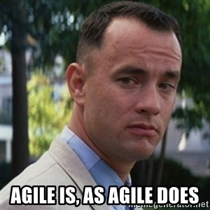 forrest gump -  aGILE IS, AS AGILE DOES