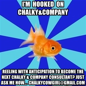 Absentminded Goldfish - i'm  hooked  on   chalky&company reeling with anticipation to become the next chalky & company consultant? Just ask me how...  chalkycowgirl@gmail.com