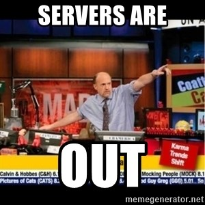 Mad Karma With Jim Cramer - servers are out